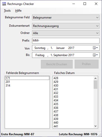 Rechnungs Checker für ecoDMS
